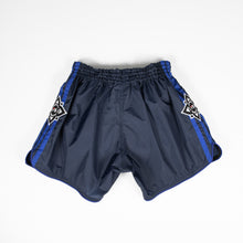 Load image into Gallery viewer, InFightStyle Lotus Nylon Muay Thai Short - Blue