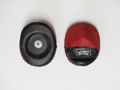 InFightStyle Micro Boxing Focus Punch Mitts- Red/Black