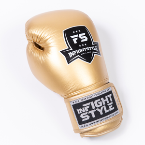 InfightStyle Gold Muay Thai Boxing Gloves