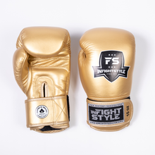 Load image into Gallery viewer, InfightStyle Gold Muay Thai Boxing Gloves