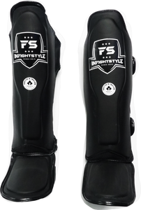 InFightstyle Combat Sport Muay Thai Shin Guards - Black