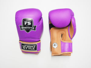 "InFightStyle ""Heritage"" Muay Thai Boxing Glove - Purple/Caramel"