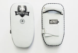 InFightStyle Single Strap Kickpad - White/ Black