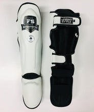 "Load image into Gallery viewer, InFightStyle ""Enfused"" Muay Thai Shinguards - White - Combat sport"