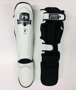 "InFightStyle ""Enfused"" Shinguards - White"