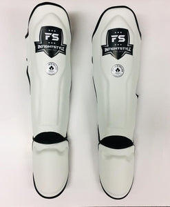 "InFightStyle ""Enfused"" Muay Thai Shinguards - White - Combat sport"