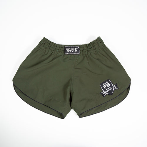 InFightStyle Training Line Muay Thai Short - Green Olive
