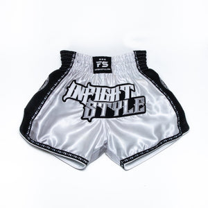 "InFightStyle ""OD"" Retro Muay Thai Short - White"