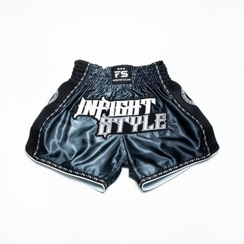 "InFightStyle ""OD"" Retro Muay Thai Short  - Black"
