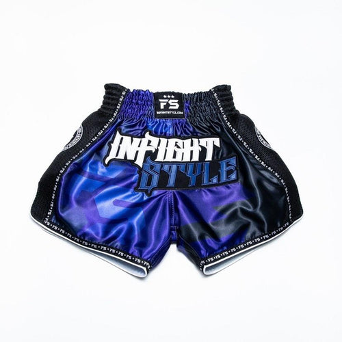 "InFightStyle ""OD"" Retro Muay Thai Short - Blue"