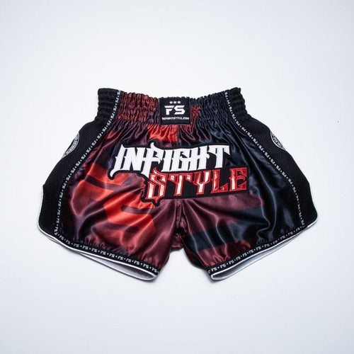 "InFightStyle ""OD"" Retro Muay Thai Short - Red"