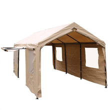 Load image into Gallery viewer, SORARA Carport 10 x 20 ft Heavy Duty Canopy Garage Car Shelter with Windows and Sidewalls, Beige