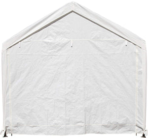 SORARA Carport 10 x 20 ft Heavy Duty Canopy Garage Car Shelter with Windows and Sidewalls, White