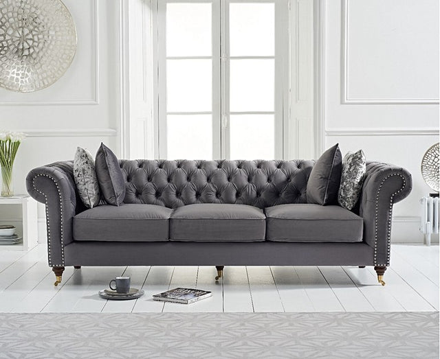 Carrara Chesterfield  Velvet Sofa Collection ( 4 Colours)