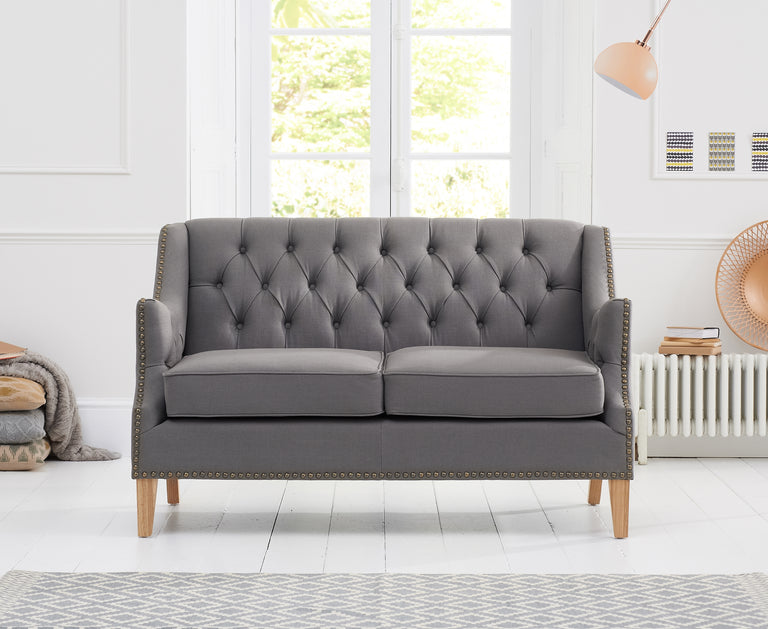 Boleyn Grey Fabric 2 Seater Sofa