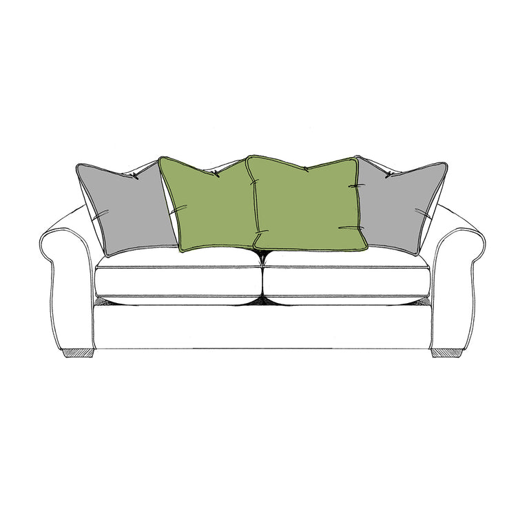 Linford Pillow Back Split 3 Seater Sofa