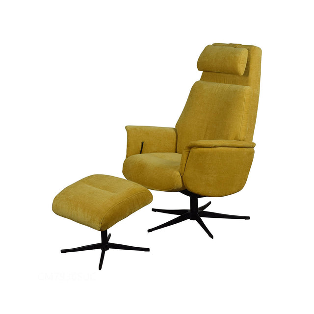 Albury Swivel Recliner and Footstool