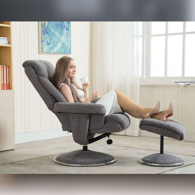 Biarritz Swivel Recliner Chair and Footstool