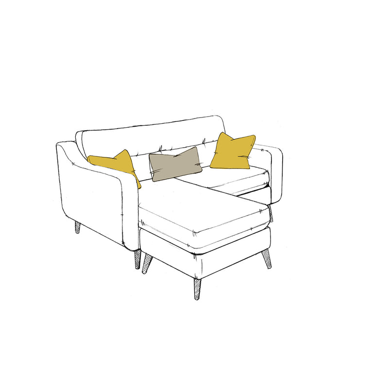 Camden Compact Sofa + Small Footstool