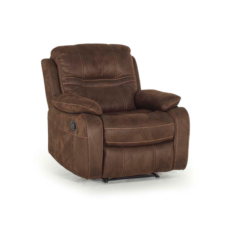 Corelli 1 Seater Brown Fabric Recliner