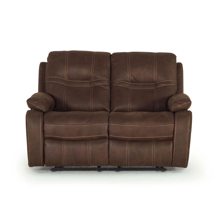 Corelli 2 Seater Brown Fabric Recliner Sofa