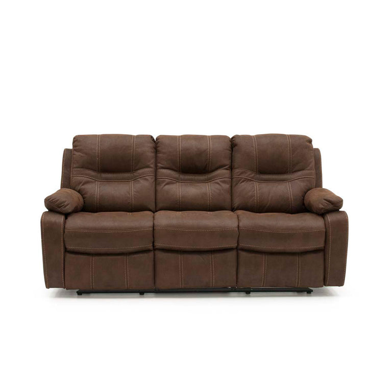 Corelli 3 Seater Brown Fabric Recliner Sofa