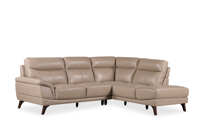 Carol Corner Suite In Top Grain Grade A Leather Left