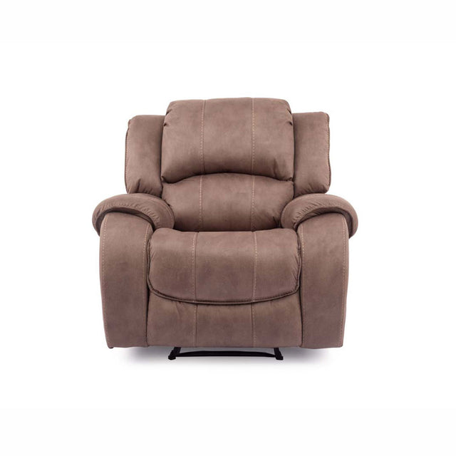 Darwin Fabric 1 Seater Manual Or Power Recliner Chair In Biscuit Or Smoke Colour Fabric