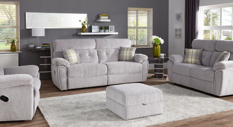 Milano 4 Seater Manual Recliner Sofa