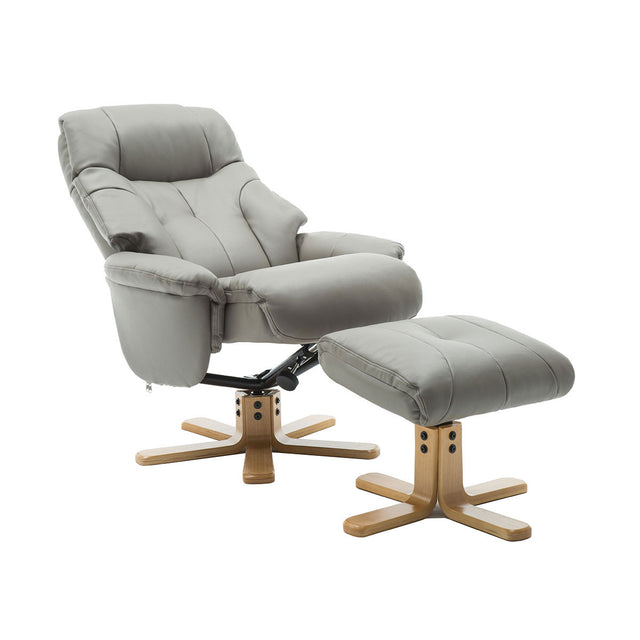 Dubai Swivel Recliner Chair and Footstool