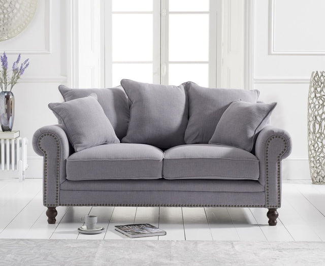 Eliza Grey Linen 2 Seater Sofa