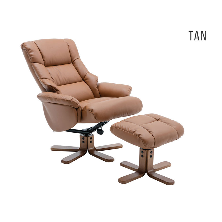 Florence Swivel Recliner Chair and Footstool