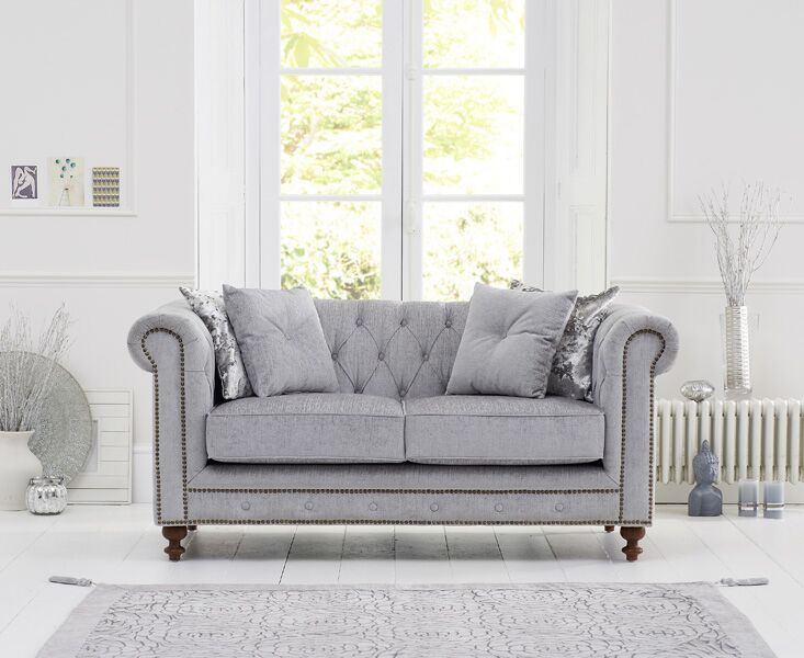 Montrose Grey Fabric 2 Seater Sofa