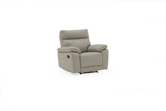 Juliet Single Seater Real Leather Recliner In Light Grey, Brown Or Black