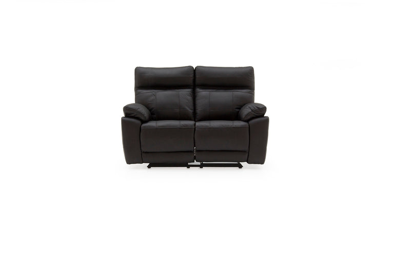 Juliet Two Seater Leather Reclining Sofa In Grey, Brown Or Black Colours