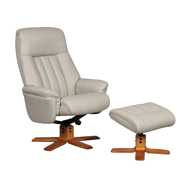 St Tropez Swivel Recliner Chair and Footstool