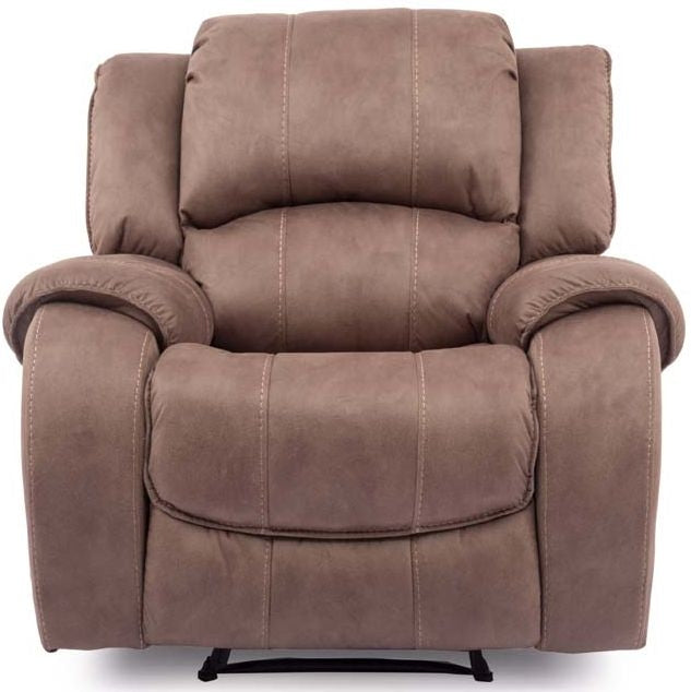 Melbourne Single Seater Smoke Or Biscuit Colour Fabric Reclining Chair Power Or Manual Function