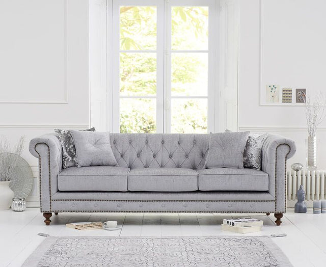 Montrose Grey Fabric 3 Seater Sofa
