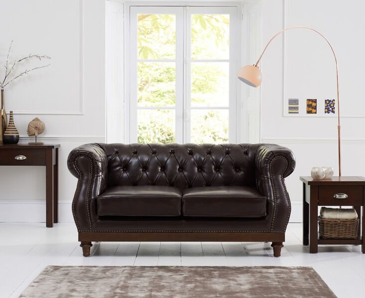Highgrove Brown Leather 2 Seater Sofa