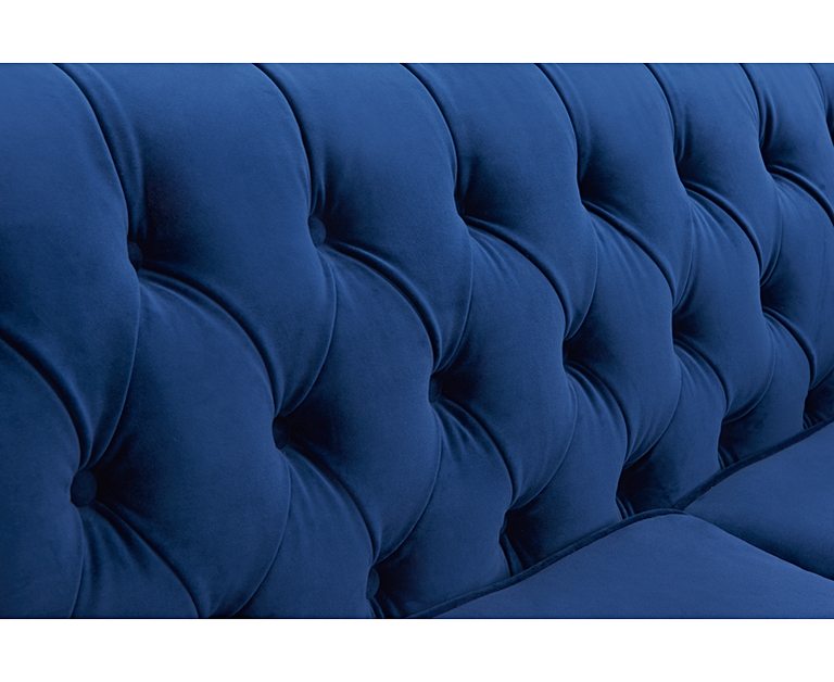 Milano Chesterfield Blue Plush Armchair