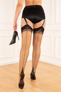 Full Contrast Point Heel Stockings