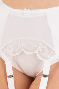 Six Strap Arch Lace Suspender Belt