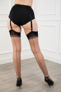 Full Contrast Seamed Stockings