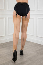 Load image into Gallery viewer, Contrast Seam Cuban Heel Stockings