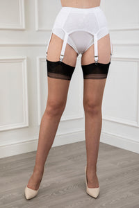 Full Contrast Cuban Heel Stockings