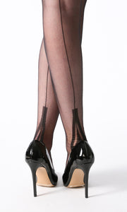 Lafayette Fully Fashioned nylon stockings in black