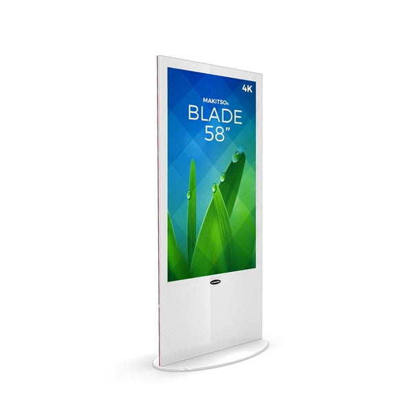 58in Digital Signage Kiosk Display & Shipping Case - White Makitso Blade V3BP58