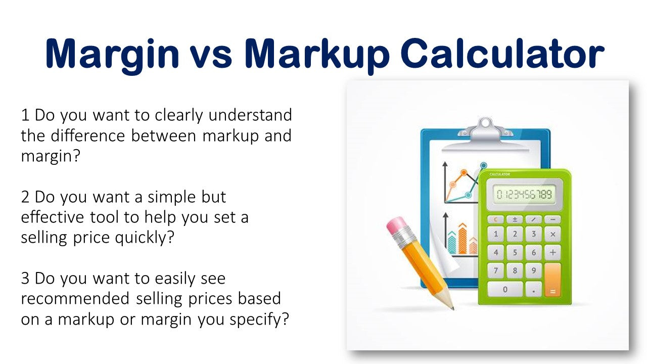 margin vs markup calculator bottom line man