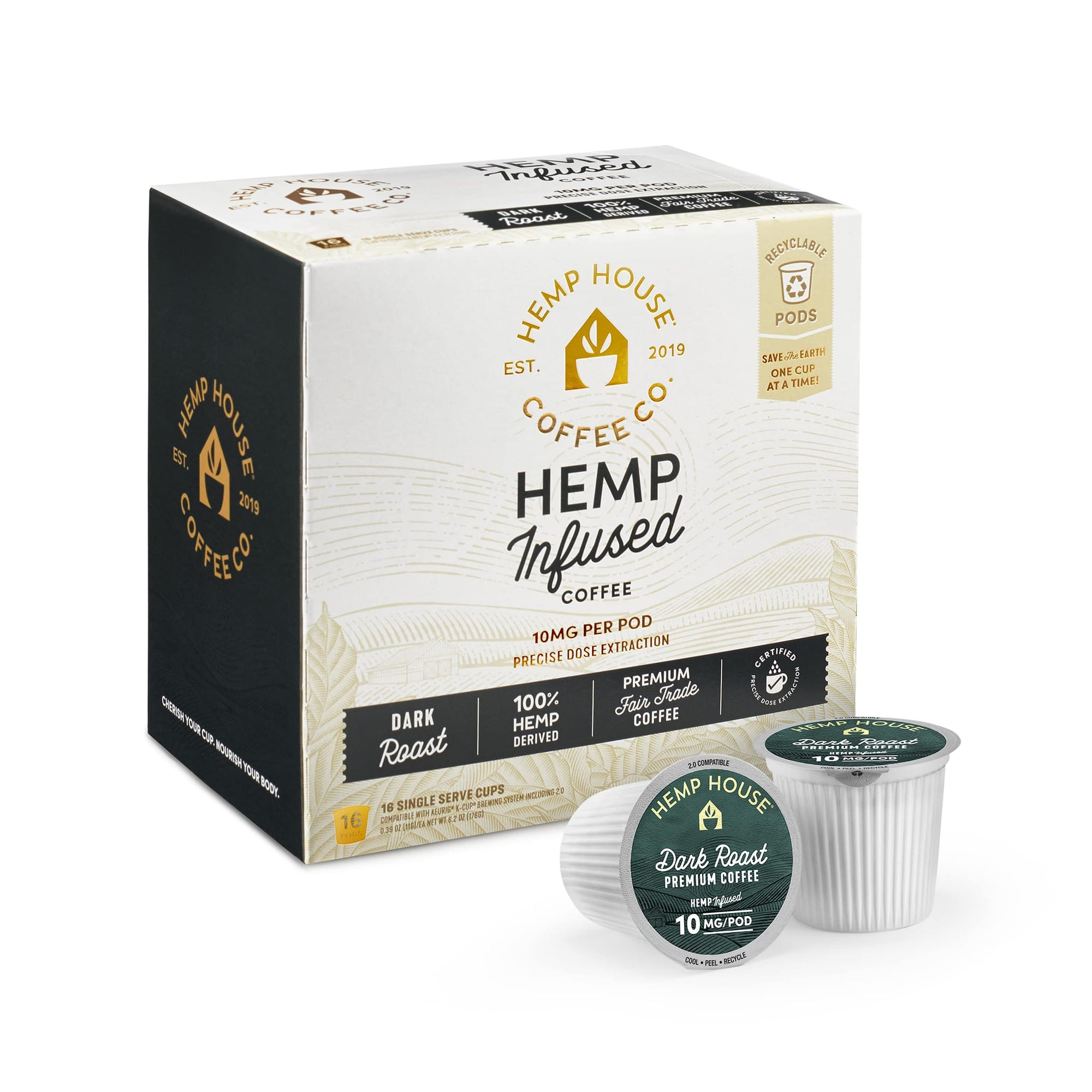 Hemp Infused Dark Roast Coffee