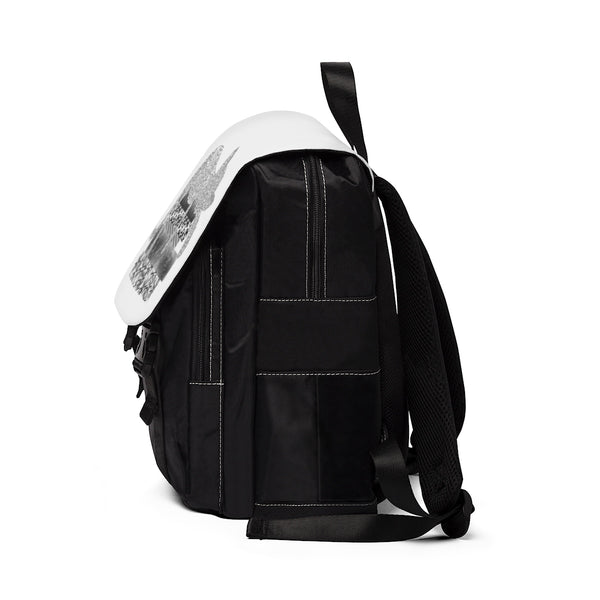Sleeping kitty silhouette Backpack